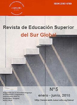 Tapa de la Revista de Educación Superior del Sur Global